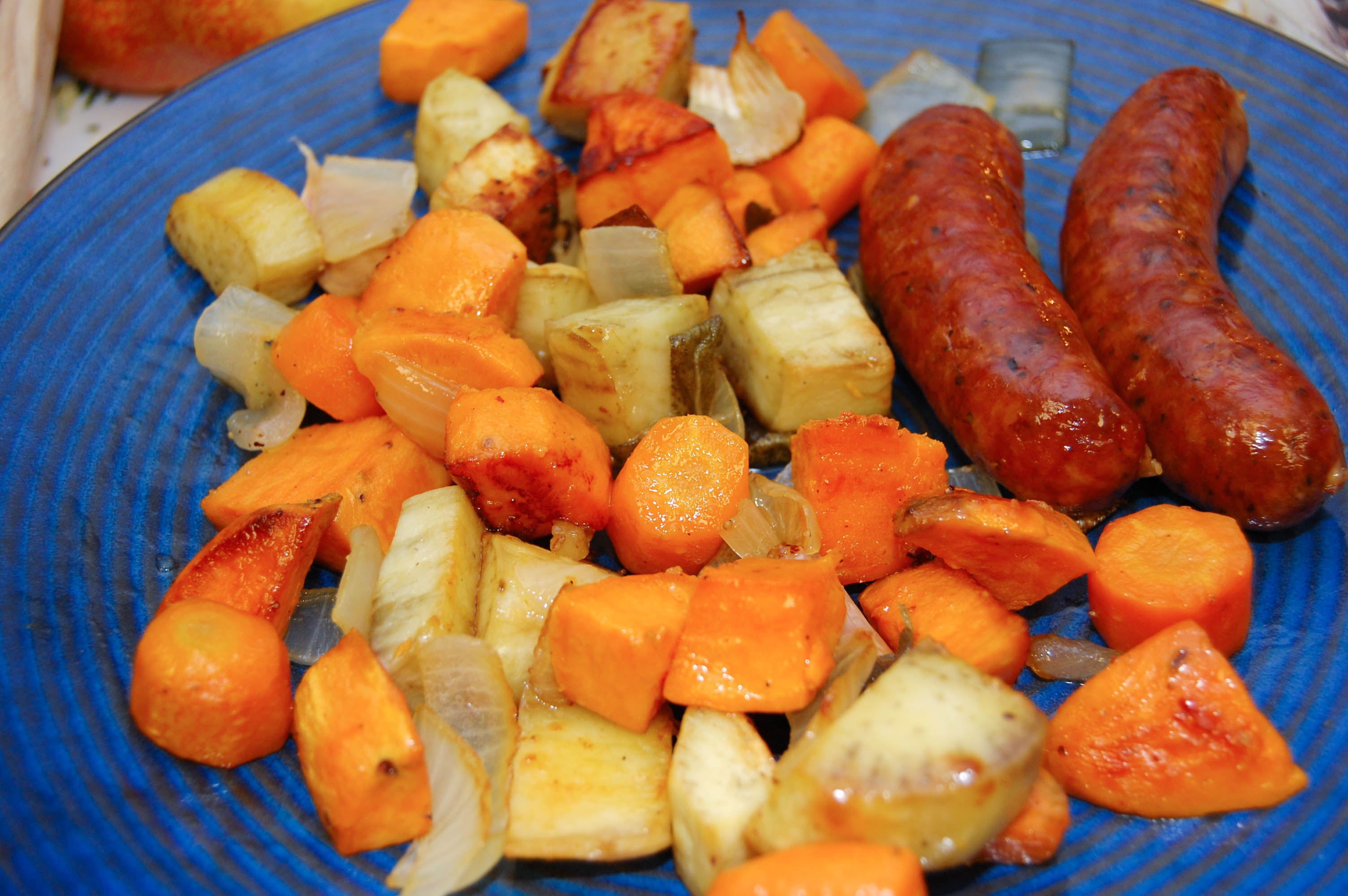 Roasting Pan Sausage and Root Vegetables with Crispy Sage | CSA for ...